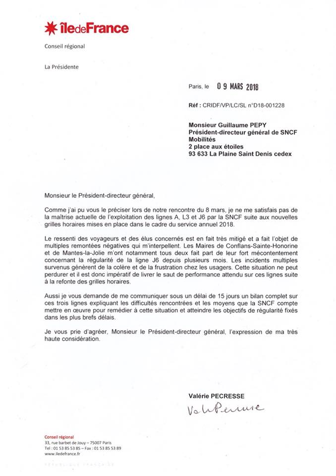 lettre Pecresse